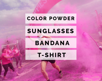 (Pink) Color Race-Run Race Kits