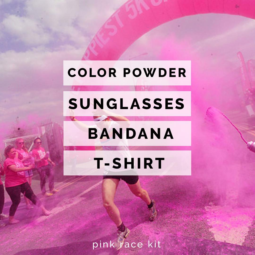 (Pink) Color Race-Run Race Kits