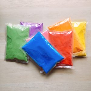 assorted-color-powder-packets